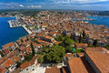 Cityscape of rovinj croatia istrian peninsula rovigno general view the city from campanile the bell tower st euphemia s basilica Stock Image