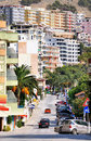 Cityscape of Saranda city. Royalty Free Stock Photography
