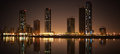 Cityscape of sharjah khalid lagoon united arab emirates Stock Photos