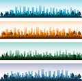 Cityscape silhouette city panoramas eps Stock Images