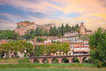 Cityscape of the spa town Castrocaro Terme, Italy Royalty Free Stock Photo