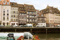 Cityscape in Strasbourg with a row of houses Stock Photo