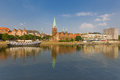 Cityscape of summer bremen over the rhein river Stock Image