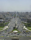 Cityscape of tehran took this photo at the top azadi tower two images combining Royalty Free Stock Photo