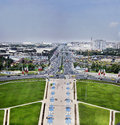 Cityscape of tehran took this photo at the top azadi tower two images combining Royalty Free Stock Photography