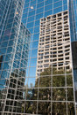 Cityscape: Urban Reflections in Highrise Glass Royalty Free Stock Photo