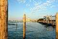 Cityscape of Venice. wharf Royalty Free Stock Photography
