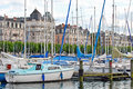 Cityscape view of lake geneva switzerland august along the bank august Royalty Free Stock Photography