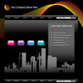 Cityscape website template Stock Photos
