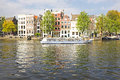 Cityscenic from amsterdam in the netherlands at amstel Royalty Free Stock Image