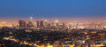 Cityview of los angeles by night Royalty Free Stock Photos