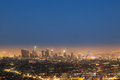 Cityview of los angeles by night Stock Photos