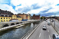 Cityview of stockholm higway in the heart the city Stock Photos
