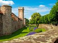 Citywall in France Royalty Free Stock Photo