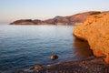 Ciudad de Datça con las montañas y el Mar Egeo. Turquía Fotos de archivo