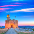 Ciutadella castell de sant nicolas sunset castillo san nicolas in ciudadela balearic islands Royalty Free Stock Photography