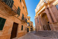 Ciutadella menorca cathedral at ciudadela balearic islands downtown in Stock Photos