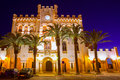 Ciutadella menorca city town hall sunset in ciudadela balearic islands Stock Photos