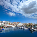 Ciutadella menorca marina port boats balearic islands view in Royalty Free Stock Photo