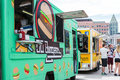 Civic center eats denver colorado usa june gathering of gourmet food trucks and carts in downtown denver park Stock Image