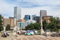 Civic center park in downtown denver september on september the is located at the intersection of colfax avenue and Royalty Free Stock Photography