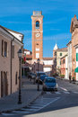 The civic tower of montiano Royalty Free Stock Photo