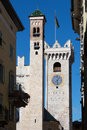 Civic tower of trent italy historic trento Stock Image