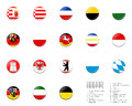 Civil flag balls of Germany state Stock Images