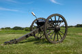 Civil war cannon a era on a ridge at perryville kentucky Royalty Free Stock Images