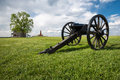 Civil war cannon at manassas national battlefield park a canon rests in one of the fields in northern virginia Stock Photos