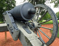 Civil War Cannon rear side detail Royalty Free Stock Photo