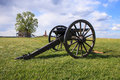 Civil war canon an historical in a landscape view of manassas national battlefield in virginia Royalty Free Stock Images