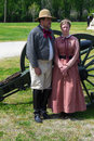Civil War Couple Royalty Free Stock Photo