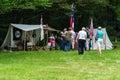 Civil War Encampment – Blue Ridge Parkway, Virginia, USA Royalty Free Stock Photo