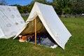 Civil War encampment Royalty Free Stock Photo