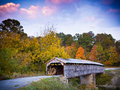 Civil War Era Covered Bridge Royalty Free Stock Photo
