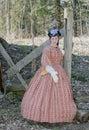 Civil war era woman Royalty Free Stock Image