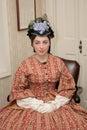 Civil war era woman Stock Image