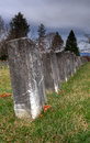 Civil War Gravestones Royalty Free Stock Photography