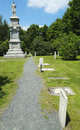 Civil War Memorial and cemetery in Bar Harbor Stock Photo