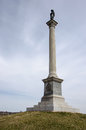 Civil war memorial in gettysburg national battlefield a of the stands Stock Photography