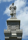 Civil war memorial in historic bar harbor in maine july on july was erected commemoration of the local Royalty Free Stock Images