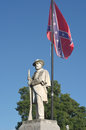 Civil War Monument with Confederate Flag Royalty Free Stock Photo