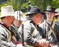 Civil War re-enactment Royalty Free Stock Photo