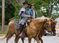 Civil War Reenactors on Horseback Royalty Free Stock Images