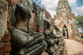 The civilization old thailand phranakhon si ayutthaya Stock Photos