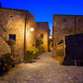 Civita di bagnoregio landmark medieval village view on twilight italy ghost town lazio europe Stock Image