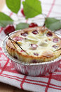 Clafoutis with sour cherry Royalty Free Stock Photography