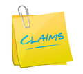 Claims memo post illustration design over a white background Stock Image