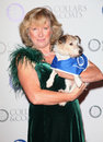 Claire horton battersea dogs home ceo arriving for the collars and coats ball at battersea evolution london picture by alexandra Stock Photo